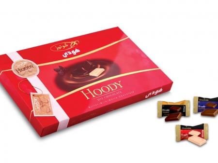 شکلات هودی سه رنگ روباندار