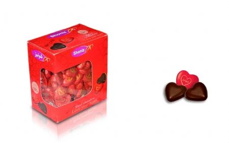 شکلات قلب تلخ فله 78 درصد پنجره دار