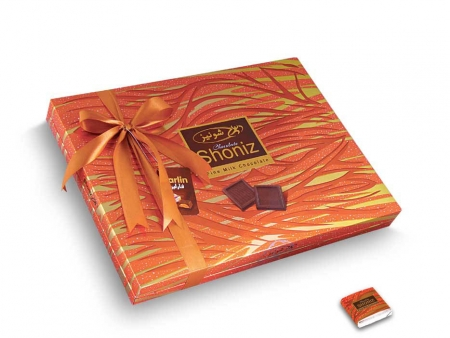 شکلات مربع کادوئی روباندار