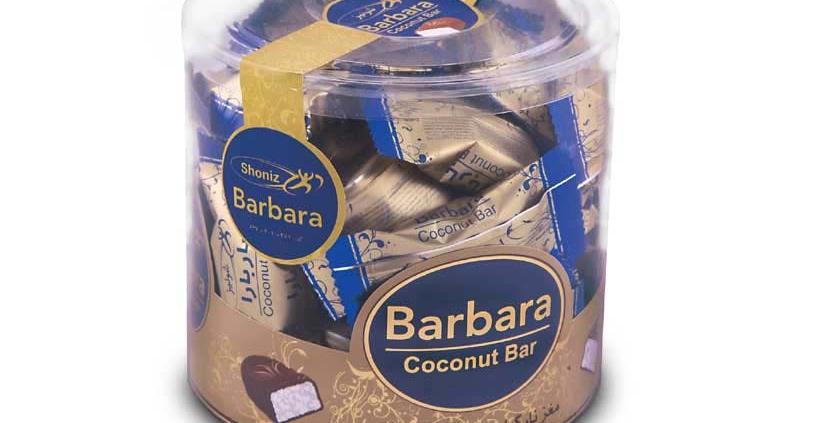 شکلات نارگیلی مینی باربارا استوانه