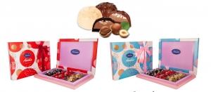 شکلات آندیس کادویی روباندار سه رنگ