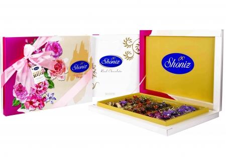 شکلات پذیرا کادوئی 3 رنگ روباندار