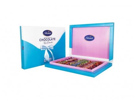 شکلات پذیرا کادویی 3رنگ روباندار