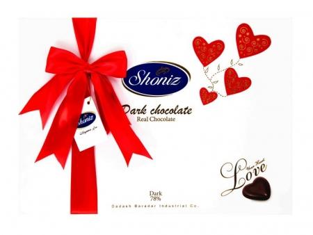 شکلات قلب تلخ کادویی لاو