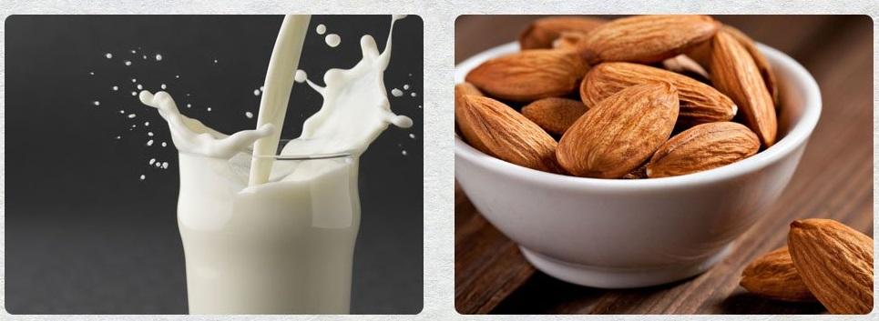 بادام به جای شیر