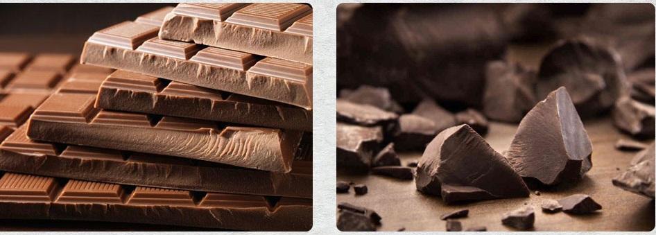 شکلات تلخ به جای شکلات شیری
