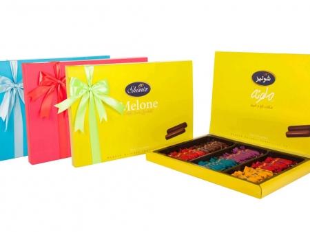 شکلات ملونه میکس کادوئی روباندار