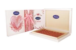 شکلات قلب تلخ 78 درصد کادویی روباندار