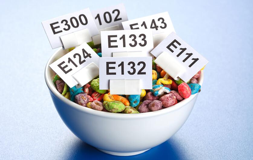 مفهوم شماره های E روی بسته بندی محصولات